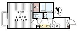 リロアン新松戸[205号室号室]の間取り