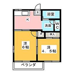 ラプラス・アドバンテージ[2階]の間取り