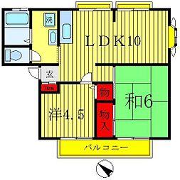 グレーハイツ吉林[2階]の間取り