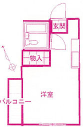 梶ヶ谷山口ハイツ[3階]の間取り