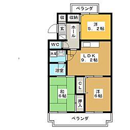 ヴィラ・ロイヤルマンション[3階]の間取り