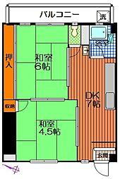 永玉マンション[4階]の間取り