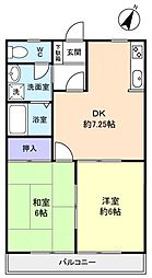大翔コーポ大和田[2階]の間取り