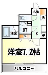 仙台市営南北線 北四番丁駅 徒歩9分の賃貸マンション 1階1Kの間取り