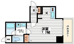レジュールアッシュ大阪城WEST[6階]の間取り