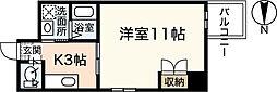 ヴァンサンク堺町[2階]の間取り
