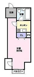 インペリアル[6階]の間取り