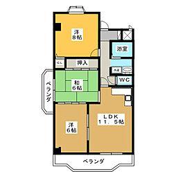エステイタスKNー6[3階]の間取り
