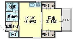 センターアヴェニュー守口[4階]の間取り
