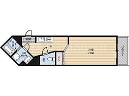 イーストクレセント[4階]の間取り