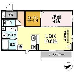 (仮)D-room山本3丁目[302号室]の間取り