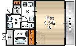 ウィスタリア京橋[5階]の間取り
