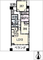 シティハウス伏見駅前 1203号室[12階]の間取り