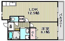 エストグリーン[2階]の間取り