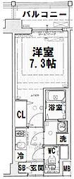 ジアコスモ大阪城南II[1007号室]の間取り