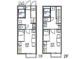 レオパレスリバーポートII[1階]の間取り