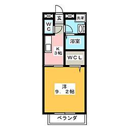 Surplus桜[2階]の間取り