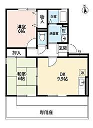 メルベーユ前田[1階]の間取り