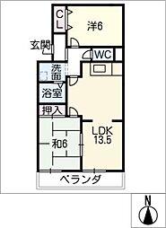 サントピアグリーン[3階]の間取り
