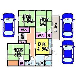 [一戸建] 愛媛県松山市吉藤3丁目 の賃貸【/】の間取り
