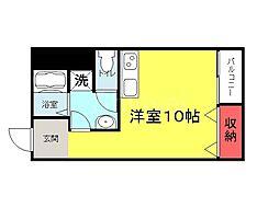 大阪府堺市堺区宿院町東3丁の賃貸マンションの間取り