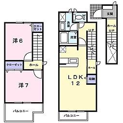 グランデ・クイーン[2階]の間取り