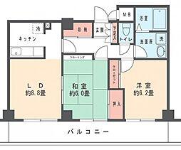 ロイヤルハイム武蔵新城[202号室]の間取り