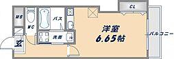 ルミエール新今里[8階]の間取り
