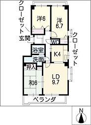 ラ・ヴィレット城屋敷[2階]の間取り