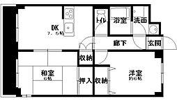 クリオ上宮田[202号室]の間取り
