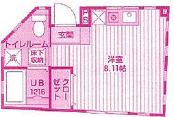神奈川県川崎市高津区下作延7丁目の賃貸アパートの間取り