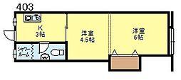 新大阪マンション[403号号室]の間取り