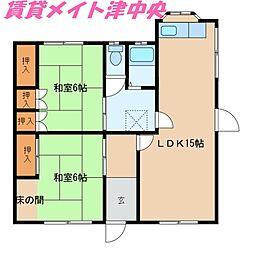[一戸建] 三重県津市大園町 の賃貸【/】の間取り