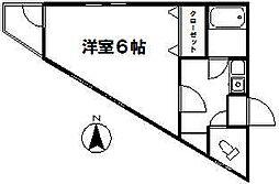 コート狛江[201号室]の間取り