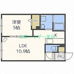 北海道札幌市東区北三十三条東17の賃貸マンションの間取り
