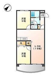 第2若葉ビル[2階]の間取り