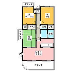 グランフォルム茅参番館[4階]の間取り