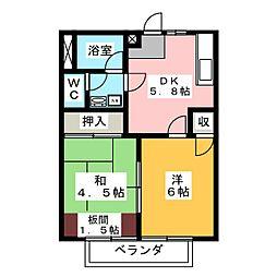 マイ・シャトウ見川 B棟[2階]の間取り