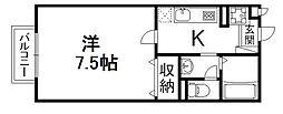 メゾンドール石[2階]の間取り