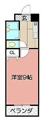 ウインズ浅香Ⅱ[6階]の間取り