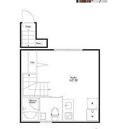 ブライトハウス亀有[2階]の間取り