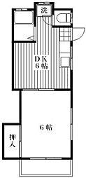 東ハイム[2階]の間取り
