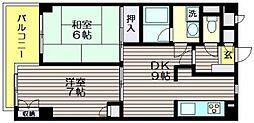 プラージュ仙川[402号室]の間取り