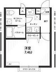 神奈川県川崎市宮前区平4丁目の賃貸アパートの間取り