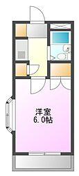 メゾンドフローレスII[2階]の間取り