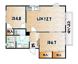 フレグランス常盤 A棟[1階]の間取り