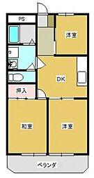 ラフィーヌ池田2番館[202号室号室]の間取り