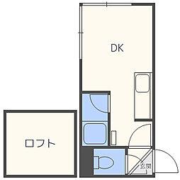 ピュアコートセレクト[2階]の間取り