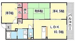 エスペラール神戸[702号室]の間取り