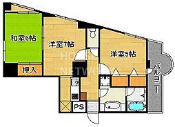 ライオンズマンション京都東堀川[1003号室号室]の間取り